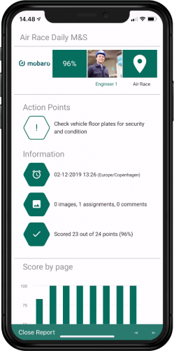 Actionable reports
